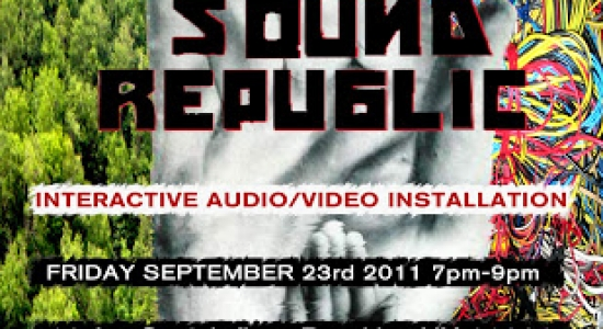 THE SOUND REPUBLIC Interactive audio/video installation